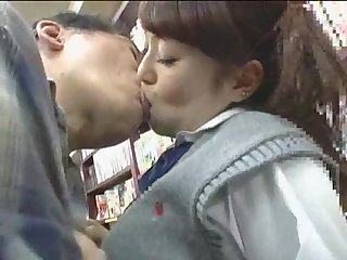 Uncle fucking teen japanese girl in supermarket