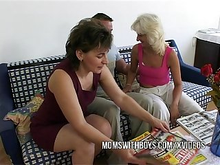Anal fucking with two hot matures