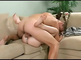 She S banged from behind on a couch