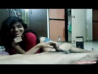 Bhutani teen girl giving blowjob to cousin