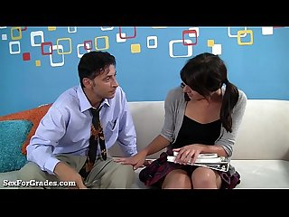 Slutty Schoolgirl Goes Home With Her Teacher!
