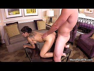 Big tits tattooed milf masturbates bts