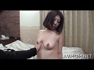 Horny asian milf enjoys 10 pounder
