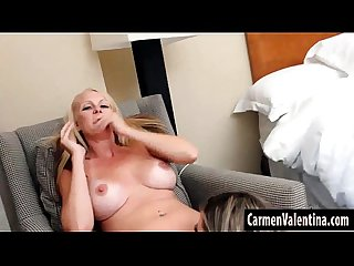 Big Tit Mature Blonde Slut Eats Carmen' Valentina Juicy Pussy