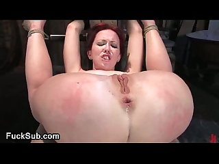 Scared babe gets rough assfucked