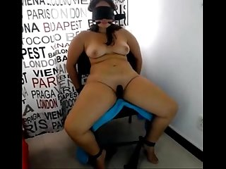 Hubby tied wife blindfold and exposed comma