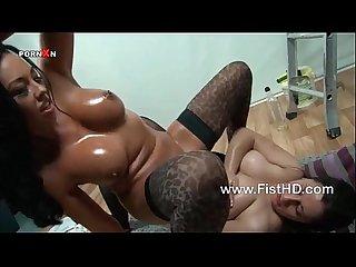 Hot Busty Lesbian Rio lee Riding A fist
