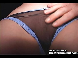 Teen cutie Tammi fucking and sucking strange men in a porn theater