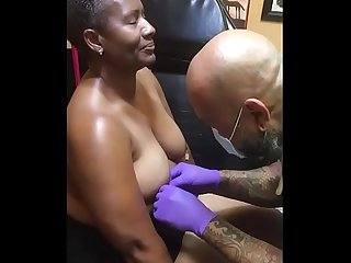 MonniLuv Getting Nipples Pierced For Her Daddy