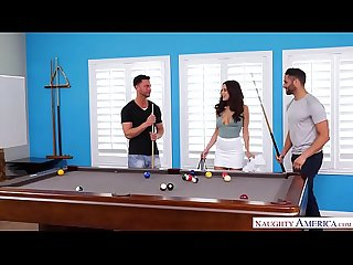 Threesome lover Lana Rhoades takes two cocks at once! - Naughty America