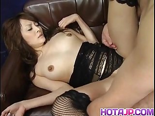 Karen miyajima is well fucked in mouth and between hairy labia