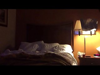 Amateur blindfolded mom gets anal fucked by son in hotel