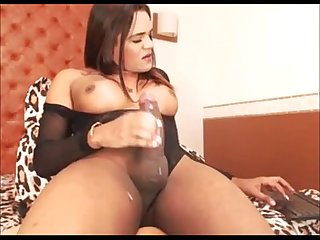 Attractive Transsexual Masturbating