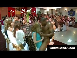 Black cfnm stripper has cock sucked by cfnm babes