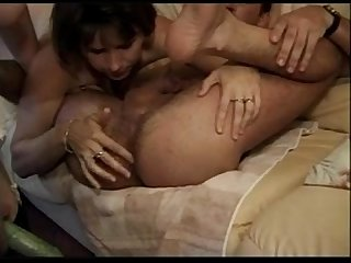 Two french matures and a man sophie verdi hairy piss