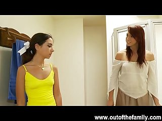 Petite trinity st period clair gets a Blowjob lesson from her Mom