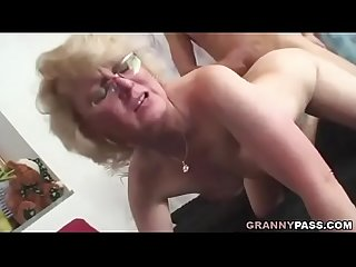 Granny Takes Young Dick Doggy Style