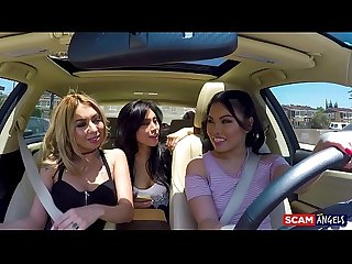 Scam angels pornstars cindy starfall and kat dior go for blackmail threeway