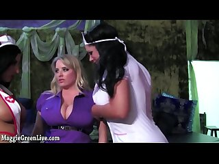 Busty blonde maggie green gets pleasured by 2 evil nurses