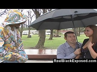 Realblackexposed black babe swallows a long rod