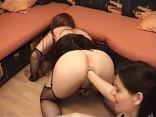 Teen fist her slave