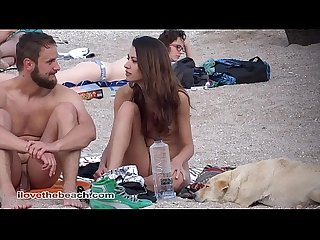 Nudist guys in the beach