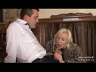 Naughty french mature hard sodomized in a bar w cum 2 mouth