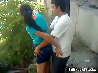 Uzbek young couple outdoor khwarezm