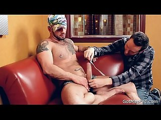 Muscle stud pumping his penis 3 by gotmasked
