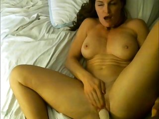 Sexy amateur milf rides dildo like a pro