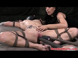 Slave mask sub restrained and toyed