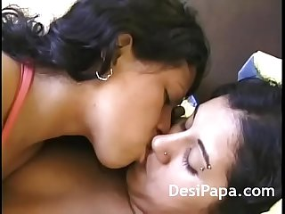 Indian girls passionate kissing
