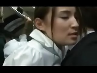 Asian Japanese MILF's sensitive body was rubbed by man's hard dick in bus - ReMilf.com