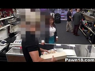 Milf sucks big cock at pawn shop