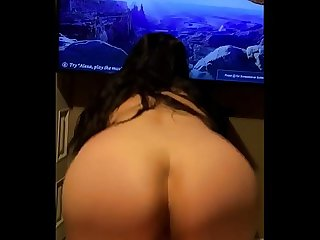 Big ass bouncing reverse cowgirl