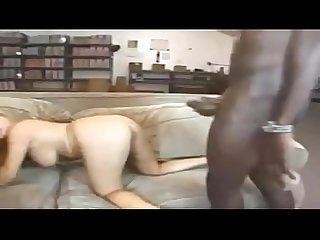 Interracial gangbang blonde babe