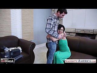 Chesty brunette Eva angelina gets facialized