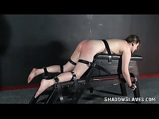 Cattleprod electro bdsm and hardcore amateur bondage of tortured slaveslut in ex