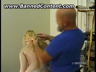 Girl getting tied and humiliated by sadistic master