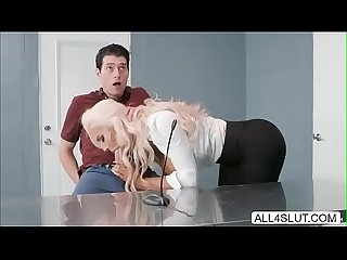 Nicolette shea rides her client cock