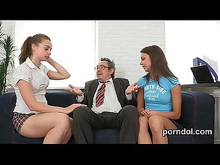 Pretty bookworm is seduced and fucked by her older teacher
