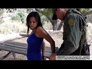 Police fuck Border Patrol agents found this Latina damsel running