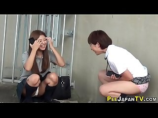 Japanese teens gush urine