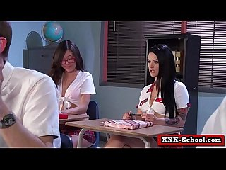Sexy busty schoolgirl and teacher fucked at school 19