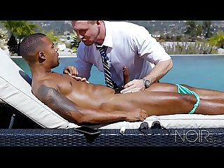 NoirMale Black Hunk Jacen Zhu Gets Analized By Daddy Pierce Paris