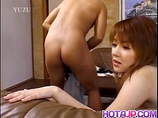 Michiru tamaki is fucked next to gal and shares boner with her
