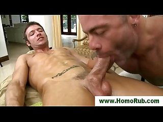 Straight guy sucked by his masseuse