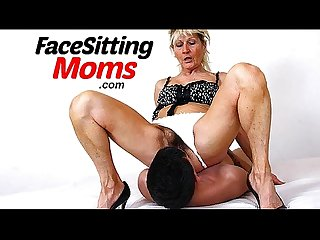 Dirty older woman gabina Facesitting young muscular boy