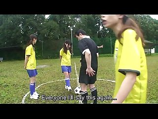 Subtitled enf cmnf japanese nudist soccer penalty game hd