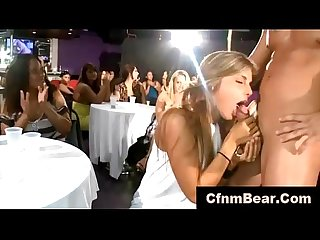 Babes next door suck off cfnm stripper at cfnm club